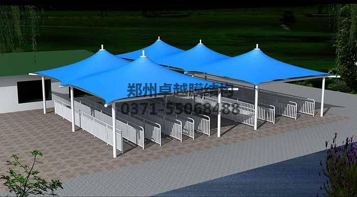 售票厅摩臣5遮阳棚设计效果图