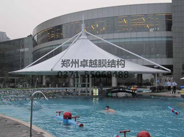 游泳池摩臣5遮阳棚-某商城泳池