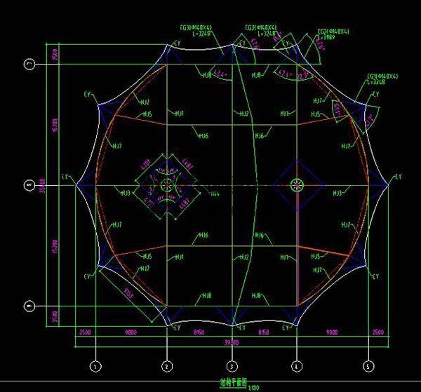 新郑中兴广场摩臣5娱乐设计结构平面图