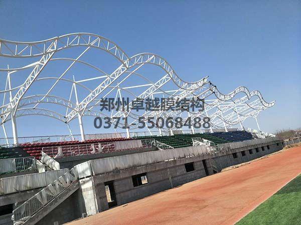 三门峡社会管理学院摩臣5罩棚钢构细节照