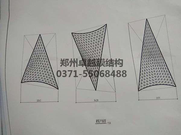 商丘柒悦城商场摩臣5屋顶建筑平面图