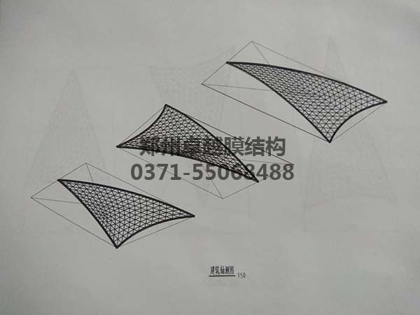 商丘柒悦城商场摩臣5屋顶建筑轴测图