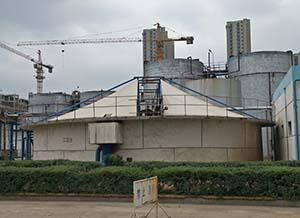 驻马店天方药业污水池反吊膜加盖工程回访